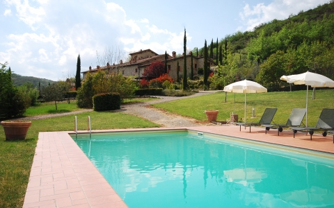 Holiday Chianti  villa with pool VECCHIA STALLA