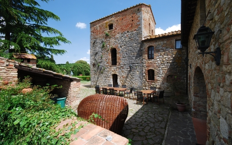 villa le torri rental vacation san gimignano casale vigneti countryside view siena region