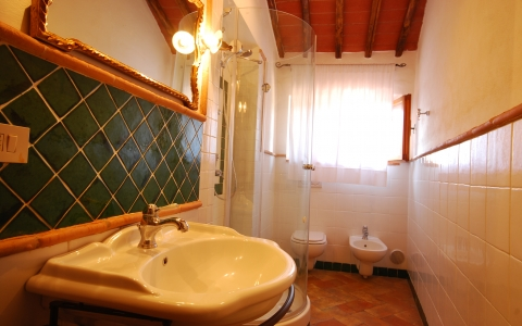 poggione chianti holiday villa pool gaiole eroica countryside hill bathroom