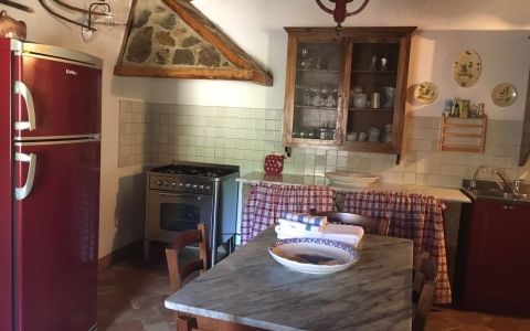 poggione chianti holiday villa pool gaiole eroica countryside hill kitchen