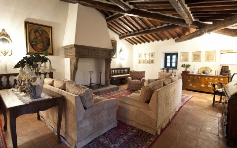 tuscany luxury villa  private pool pistoia amazing view living room